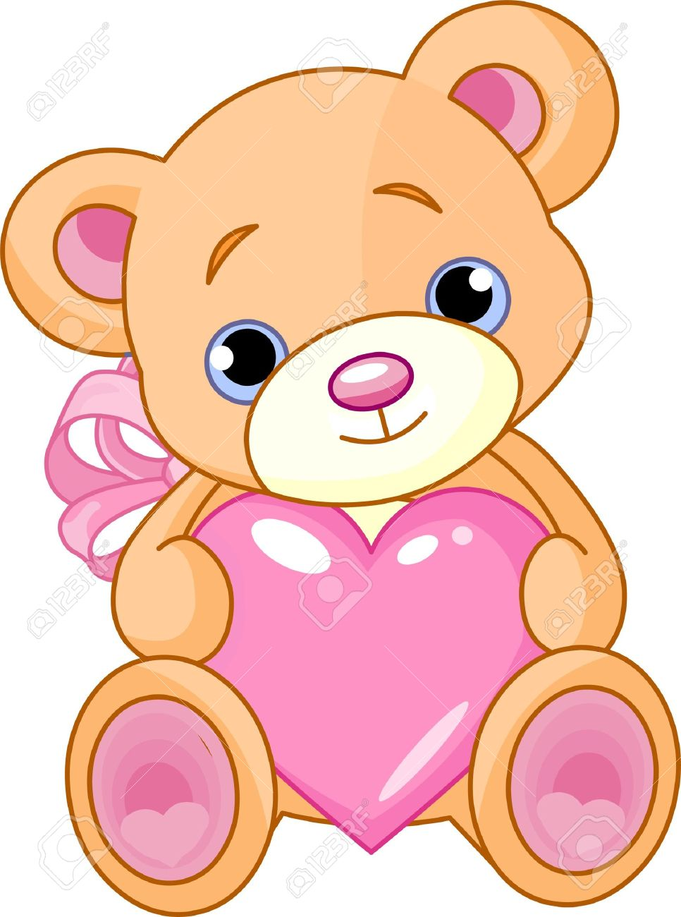 966x1300 7628241 Illustration Of Cute Little Teddy Bear Holding Pink Heart