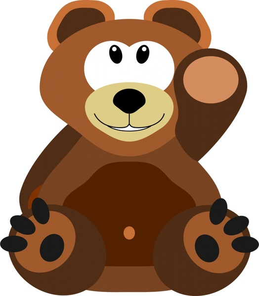 524x600 Cute Teddy Bear Drawing In Cartoon Style Free Vector In Open