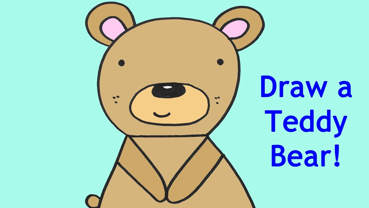 1280x720 How To Draw A Cartoon Baby Teddy Bear Easy Drawing Tutorial