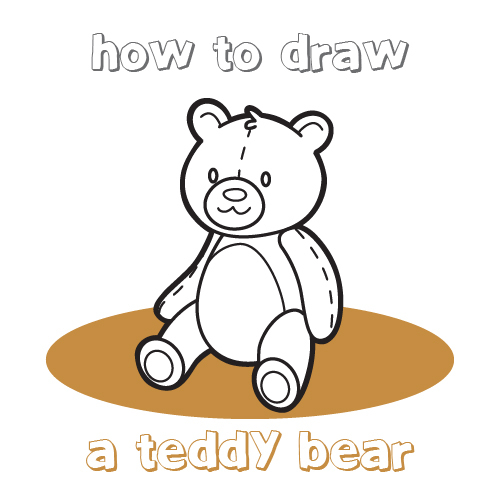 500x500 Coloring Page Teddy Bears Drawing Bear Drawings Images Easy
