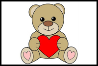 200x135 How To Draw Teddy Bears With Hearts With Easy Step By Step
