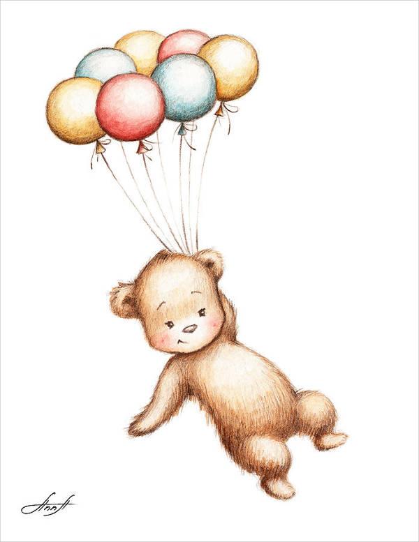 600x777 Teddy Bear Drawings