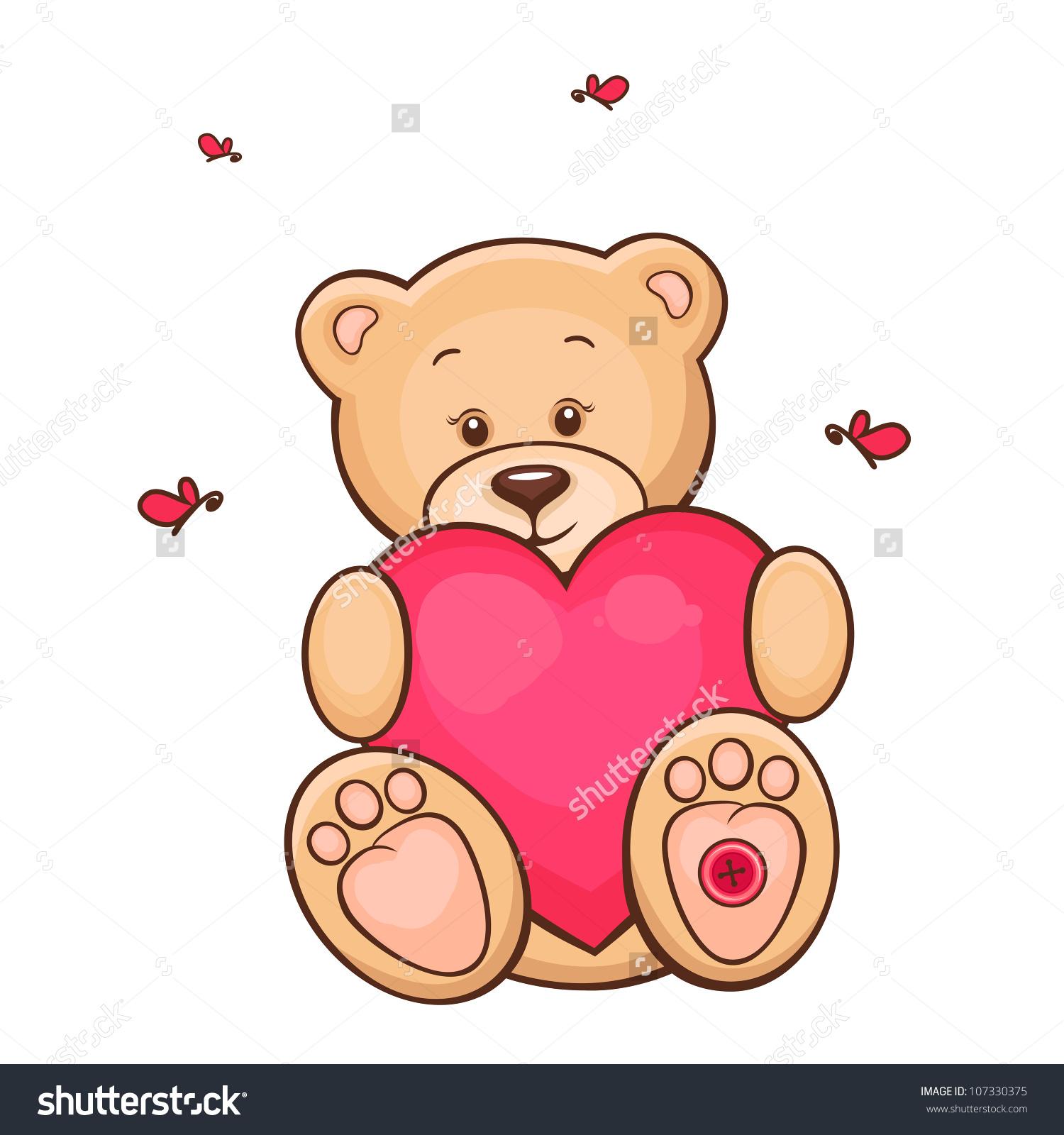 1500x1600 Cute Teddy Bear Drawing Drawn Teddy Bear Heart Drawing