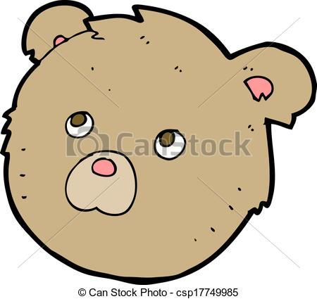 450x425 Cartoon Teddy Bear Face Vector
