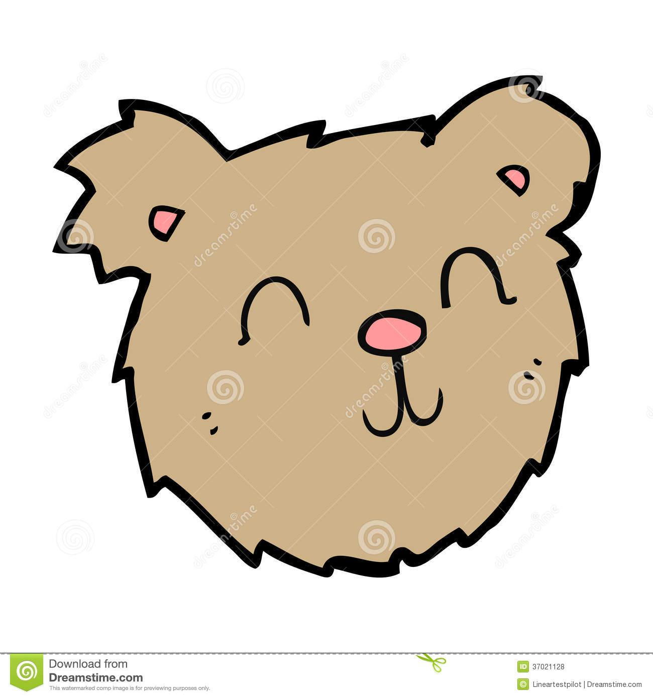 1300x1390 Drawing Teddy Bear Face Cartoon Happy Teddy Bear Face Royalty Free