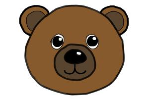 300x200 How To Draw A Bear Face