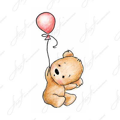 Teddy bear holding a heart drawing at getdrawings free for 400x400 the drawing of cute teddy bear with pink balloon printable altavistaventures Image collections