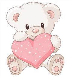 236x255 How To Paint A Sweet Teddy Bear Holding A Heart. Perfect Project
