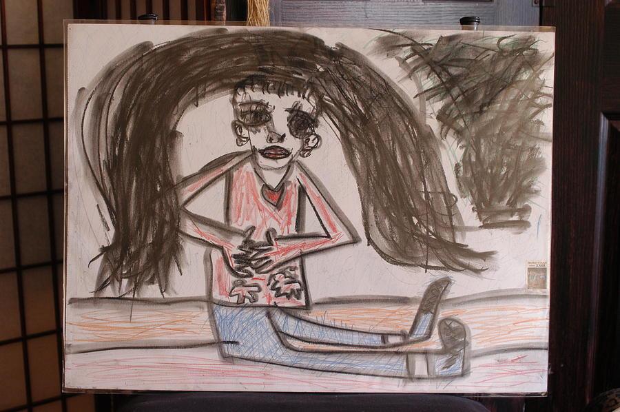 900x598 Cute Pre Teen Honduras Girl Drawing By Michael Vincent Whitemiller