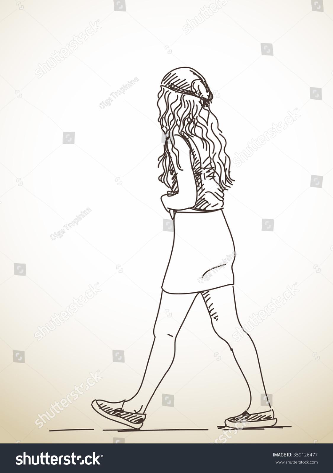 1125x1600 Drawing Of Teenage Girl The Teen Girl Full Body