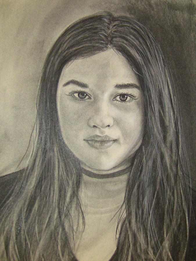 675x900 Teen Girl Drawing By Shelly Crippen