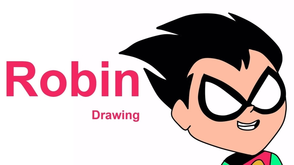1024x576 How To Draw Robin Robin Drawing How To Draw Robin From Teen Titans