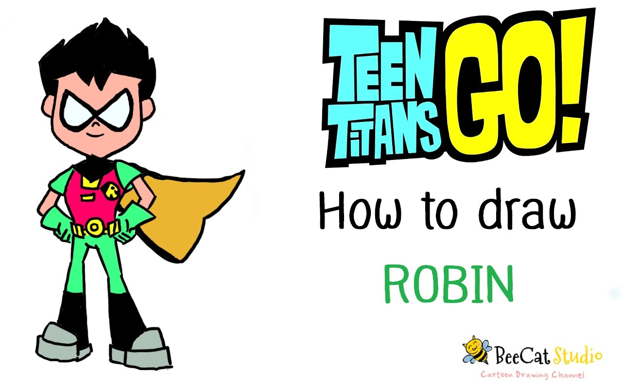 1280x800 How To Draw Robin Teen Titans Go