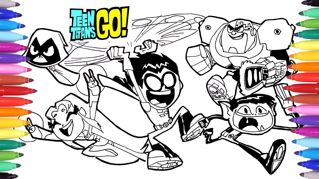 1280x720 Teen Titans Go Coloring Pages How To Draw Teen Titans Teen