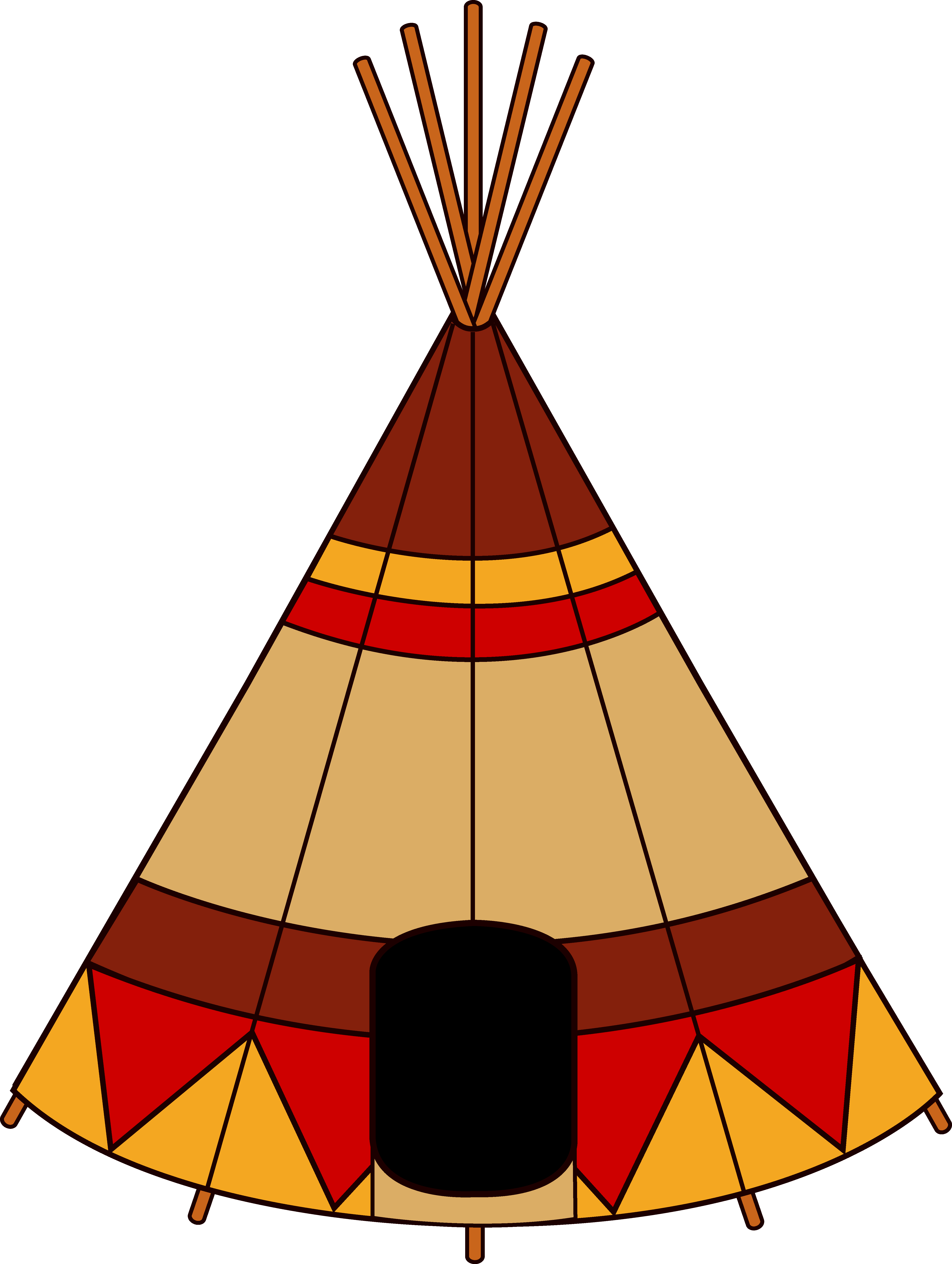 how to draw a tipi easy