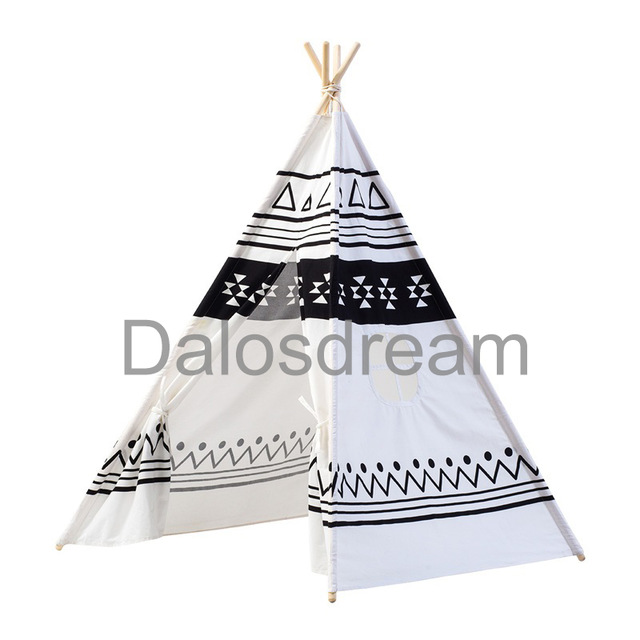 640x640 Dalosdream Indian Pattern Kids Teepee Tents Kids Play Tent Cotton