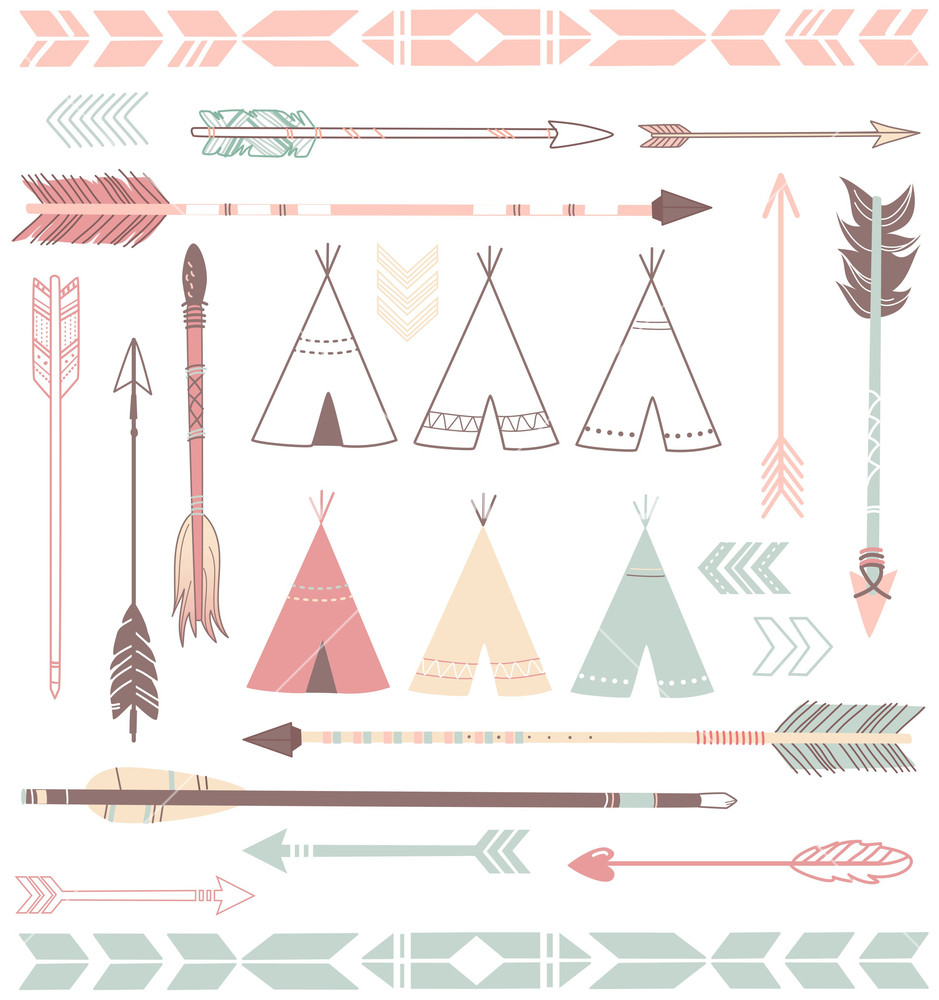 939x1000 Download Teepee Tents And Arrows Collection