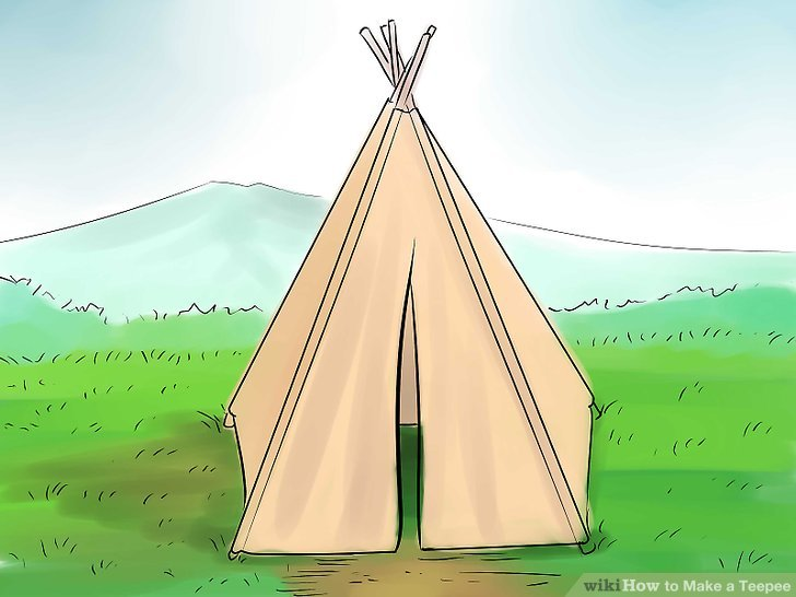 728x546 How To Make A Teepee 15 Steps (With Pictures)