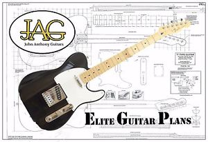 300x206 Luthiers Project Plandrawing For Fender Std Telecaster Guitar