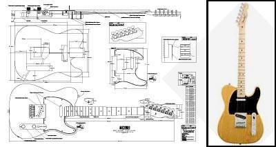 400x213 Plan Of Standard Electric Guitar Guitars