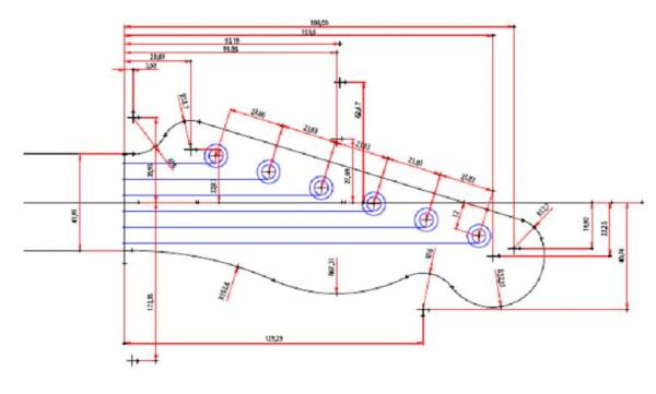 600x361 Printable Guitar Template Pdf Page 2 Telecaster Guitar Forum