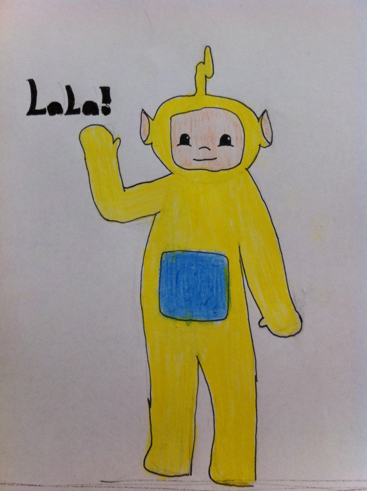 1195x1600 Chantellelikesart ) How To Draw Lala (From The Teletubbies)