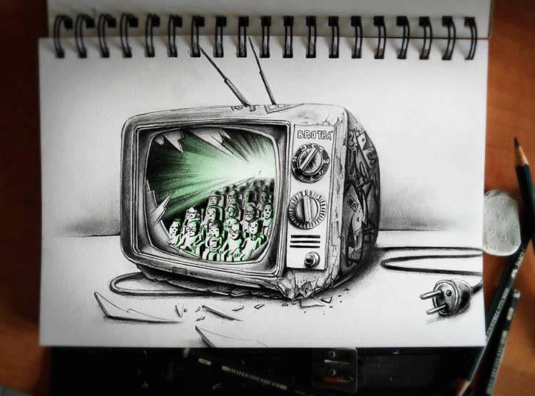 750x555 Broken Tv Set, Mars Attack, And More Scene360