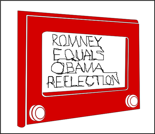500x430 Drawing Of Old Tv Set With American Election Message Public