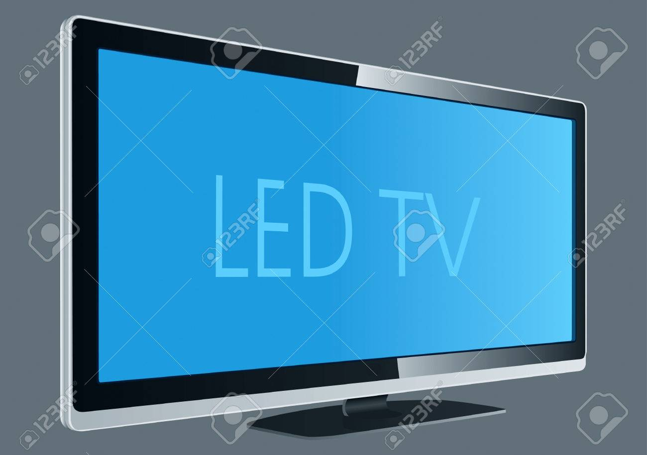 1300x915 Led Tv Drawing Royalty Free Cliparts, Vectors, And Stock