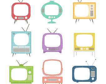 340x270 Retro Television Set Etsy