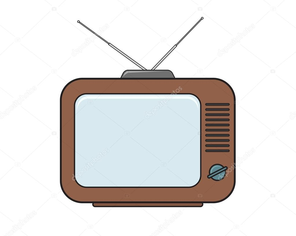 1023x816 Tv Set Drawing In Color Stock Vector Cmeree