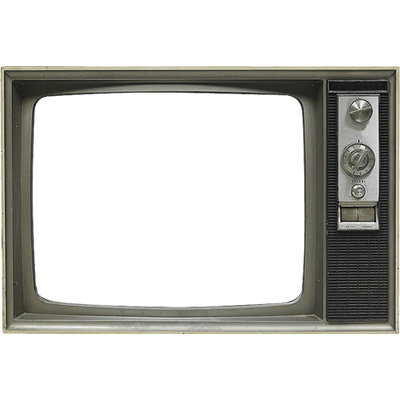 400x400 Television Set Vintage Drawing Transparent Png