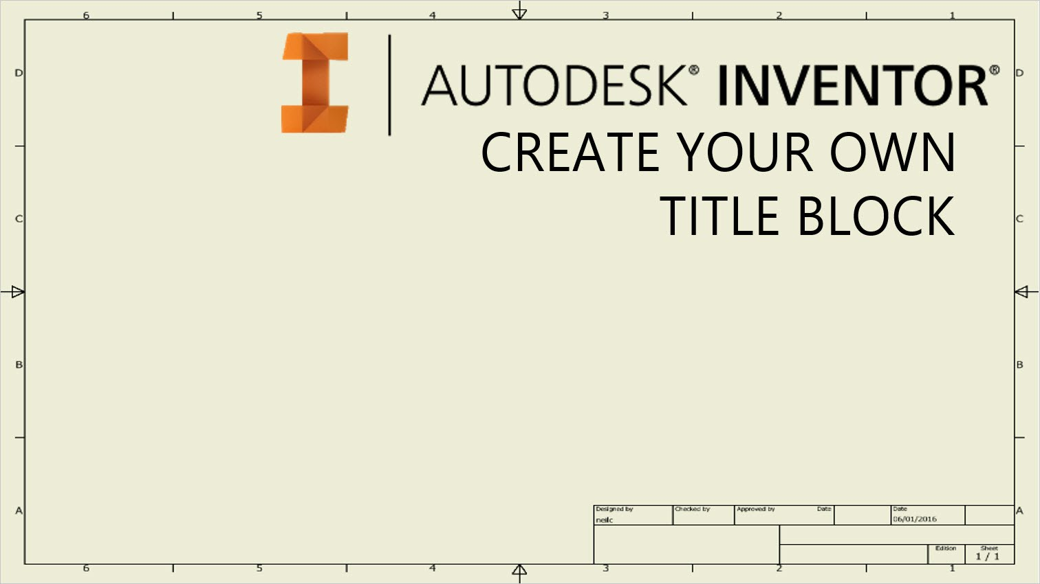 1512x850 Create Your Own Drawing Title Block Template Autodesk Inventor