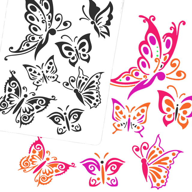640x640 Airbrush Stencils Amp Templates Drawing Tool Body Paint,woman Kids