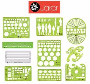 300x281 Jakar Stencil Templates Draughtsman Shape Drawing Writing Aid