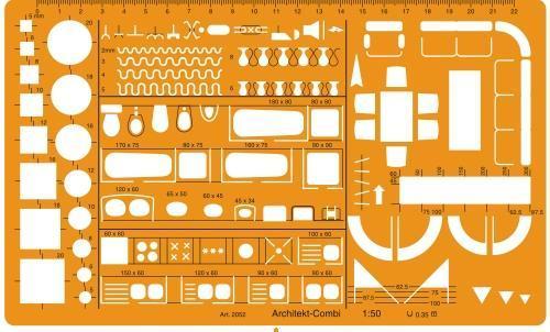 500x302 Technical Drawing Templates, Chitrakari Ke Liye Saman