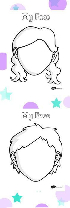 236x700 Blank Faces Templates. Free Printables