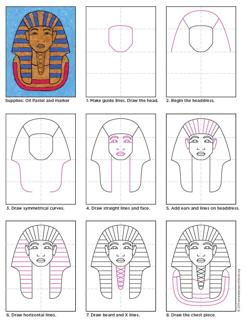 821x1077 Egyptian Mask Templates