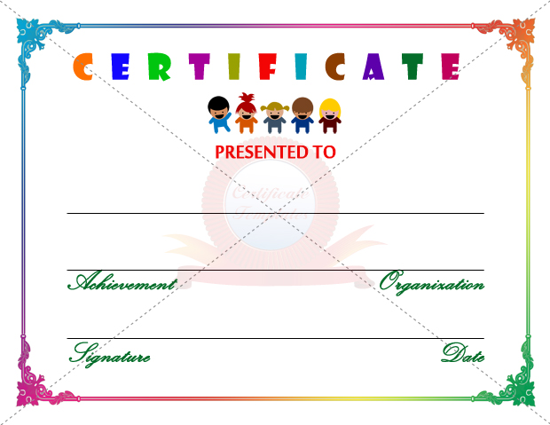 Templates for kids drawing at getdrawings free for personal 620x479 kids certificate template maxwellsz