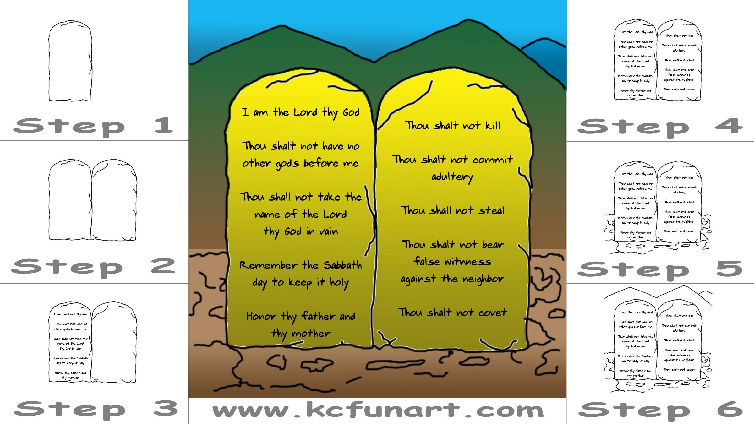 2400x1350 87 How To Draw A Cartoon Ten Commandments
