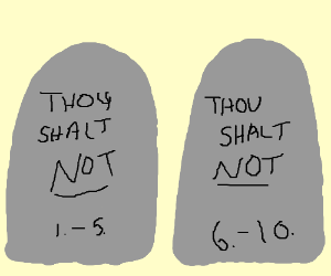 300x250 The Two Tablets Of The Ten Commandments (Drawing By Errorless)