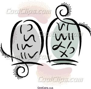 300x294 Ten Commandments Vector Clip Art