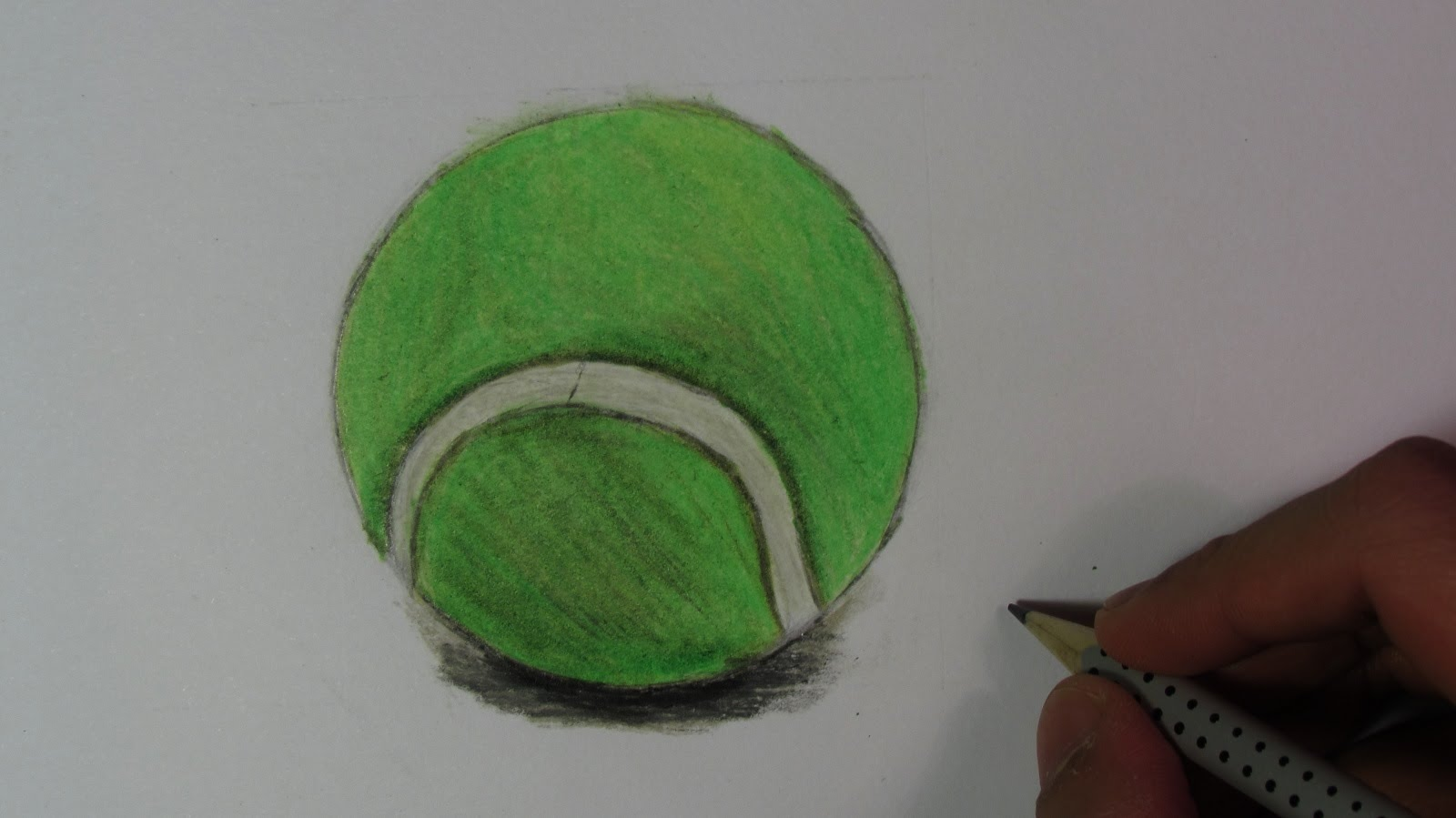 1600x899 Realistic Tennis Ball (Speed Drawing)