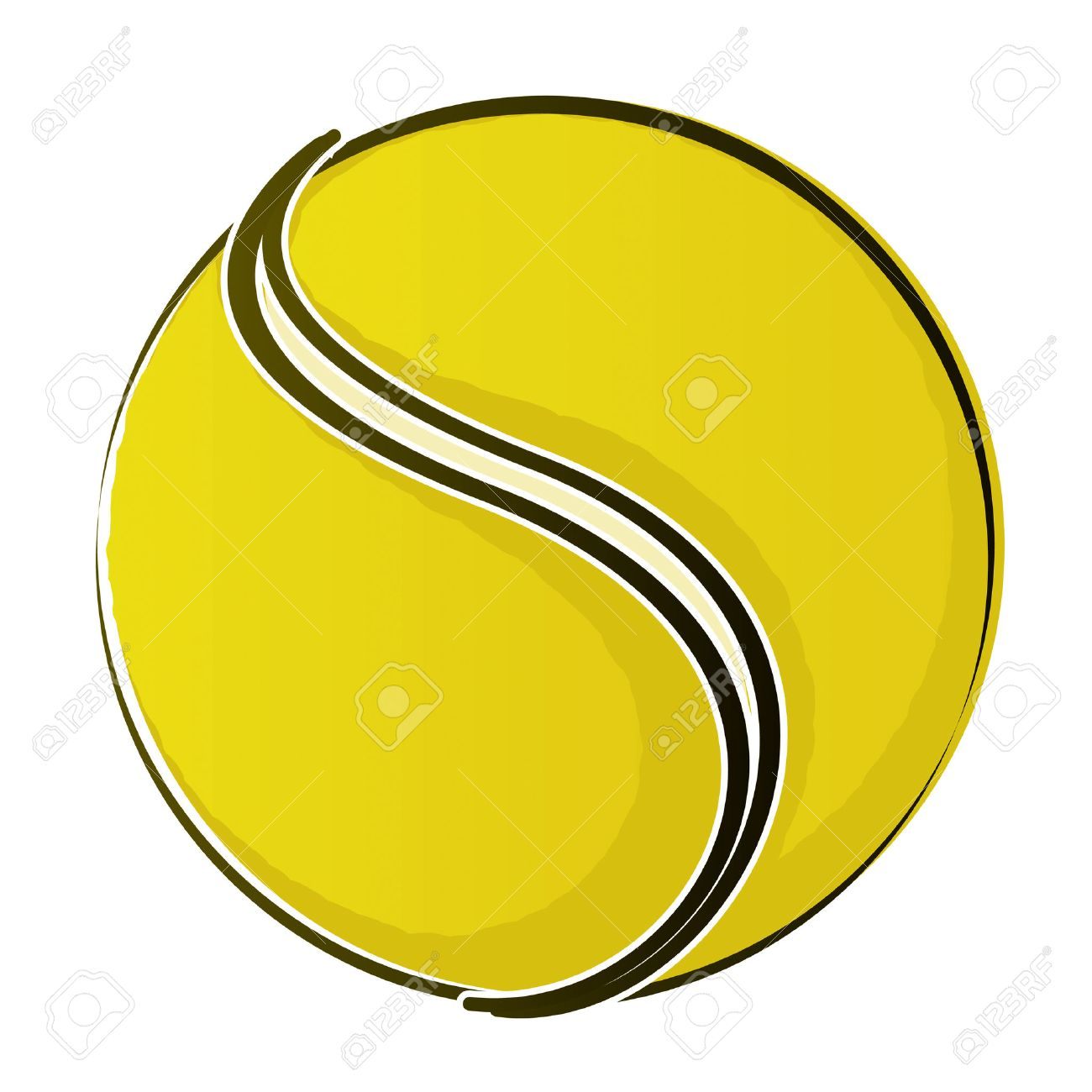1300x1300 Tennis Ball 2 Drawing Royalty Free Cliparts, Vectors, And Stock