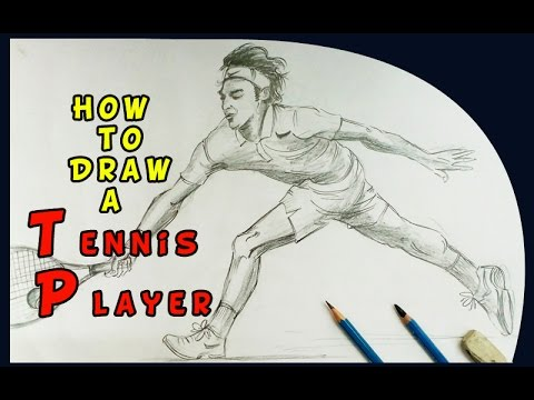 480x360 How To Draw A Tennis Player