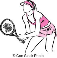 189x194 Tennis Player. Colored Vector Illustration For Designers Vectors