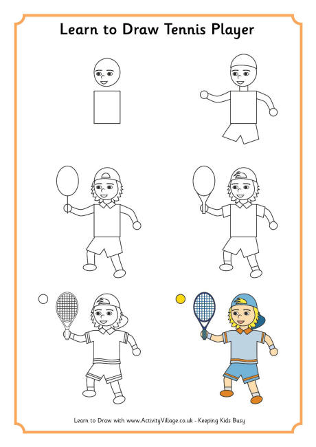 460x650 To Draw A Tennis Player