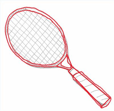 400x388 How To Draw A Tennis Racquet (With Pictures) Ehow