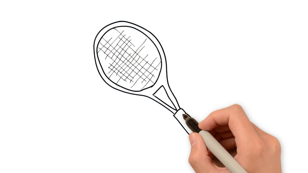 1280x720 How To Draw Tennis Racket