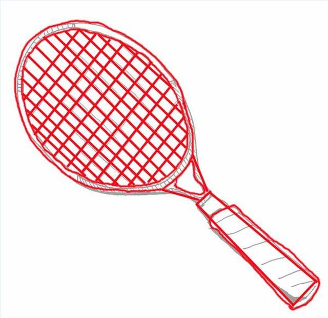 640x620 How To Draw A Tennis Racquet
